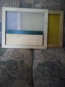 Silk Screen Frame Kit With Squeegee 15 1 8 12 With 230 160 Silk Mesh