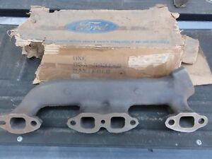 Nos 1955 64 Ford Truck 272 292 Left Single Exhaust Manifold B5a 9431 B