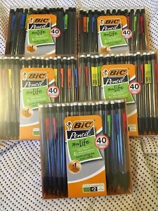 5x Lot 40 count Bic Xtra life Mechanical Pencil 0 7 Mm 200 Pencils Total