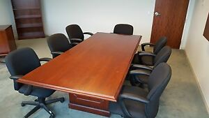 Conference Table Ofs Brand Cherry Veneer 42 X 96