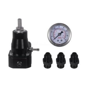 Universal Car Auto Fuel Pressure Regulator With Gauge An6 Fitting Kit 30 70 Psi