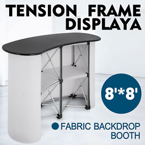 Pop Up Trade Show Display Counter Table Podium Booth Retail Sturdy Fast Delivery
