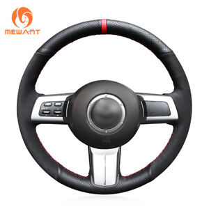 Hand Stitched Black Suede Leather Steering Wheel Cover For Mazda Mx 5 Rx 8 Cx 7