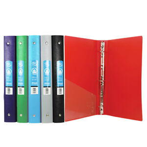 Bazic 1 Inch Matte Color Poly 3 ring Binder W Pocket Pack Of 48