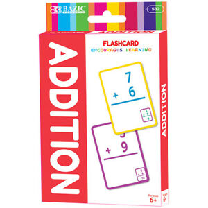 Bazic Addition Flash Cards 36 pack
