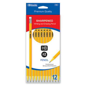 Bazic Pre sharpened 2 Premium Yellow Pencil 12 pack
