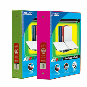 Bazic 1 5 Inch 3 ring View Binder With 2 pockets case Pack Of 24 Consist 12