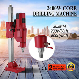 8 Diamond Core Drill Drilling Machine 3980w Rig Motor Stand Base Rock Holes