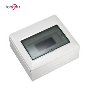 Tongou 8 Ways Electrical Metal Power Distribution Box Switch Box Surface Mounted