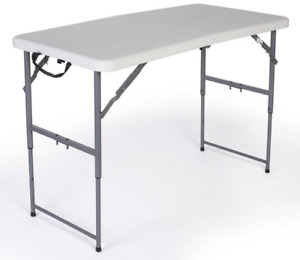 4 Adjustable Height Trade Show Exhibit Folding Display Table 450lb Capacity