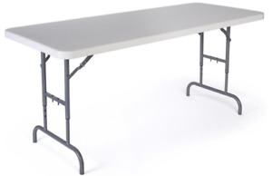 6 Adjustable Height Trade Show Exhibit Folding Display Table 450lb Capacity