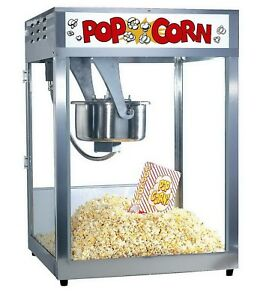 Gold Medal Macho Pop Heavy Duty Popcorn Maker Machine 16 Oz Makes 320 Qts Hour