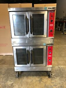 Vulcan Vc6gd Double Stack Natural Gas Convection Oven Works Great
