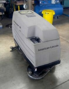American Lincoln 66 Autoscrubber Floor Scrubber Advance Tennant With Charger