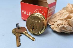 Nos Yale Lock Mortise Cylinder 1 With Key 1152