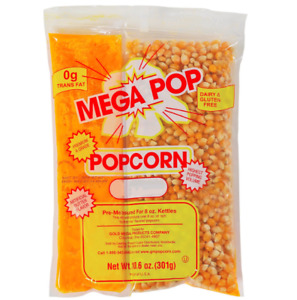 Popcorn Kits For Popcorn Machines Concession Supplies Portion Snack 8 Oz 24 Ct