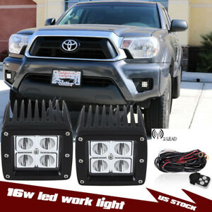 3 x3 32w Cree Cubic Led Foglamps Bumper Wirings For 2012 2015 Toyota Tacoma