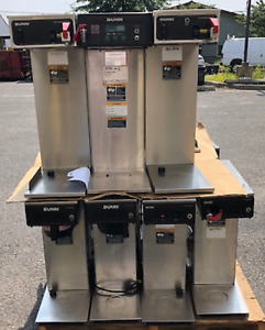 Bunn Coffee Brewers Lot Of 5 Air Pot Brewers Runnining