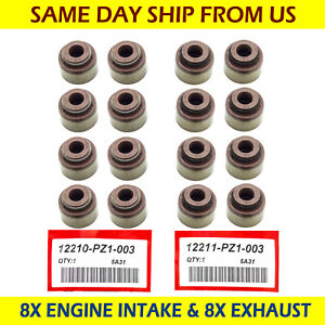 For Honda Accord Civic Acura Rsx 8x Engine Intake 8x Exhaust Valve Stem Seals
