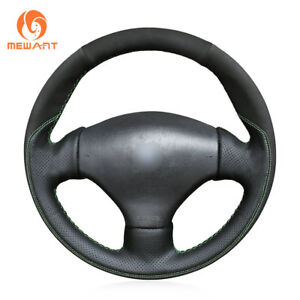 Diy Hand Sew Suede Leather Steering Wheel Cover For Peugeot 206 2003 206 Cc 2005