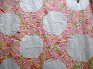 Antique Old Quilt Top Topper Hand Stitched