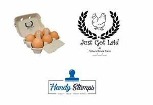 Just Got Laid Personalized Egg Box Self Inking Stamp 1 1 2 X 1 7 8