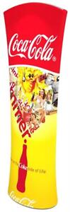 6 5 Custom Printed Curved Pop Up Trade Show Exhibit Display Fabric Banner Stand