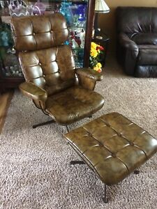 60 S Mid Century Modern Homecrest Wire Lounge Arm Chair W Ottoman Eames Style