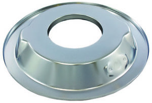 Chrome 14 Round Steel Air Cleaner Base Recessed Dropped 4 Brl 5 1 8 Openings