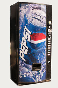 Dixie Narco 440 Single Price Soda Can Vending Machine W Pepsi Graphic