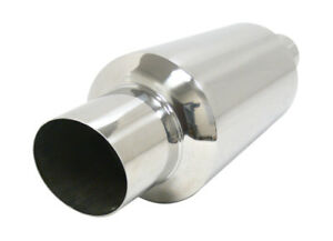Obx Racing Sports Slant Cut Universal Muffler W 2 5 Inlet Hp03 Stainless