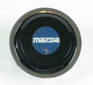 Nardi Classic Steering Wheel Horn Button Black With Mazda Letter Logo Nos