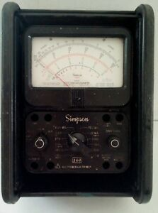 Vintage simpson 260 Multimeter Volt Ohm Meter With Bakelite Roll Front Case