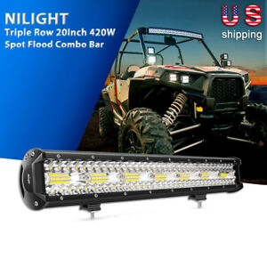 Nilight 23 In 144w Led Light Bar Spot Flood Cob Offroad Lights For Ford Boat Car
