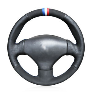 Diy Top Soft Suede Leather Steering Wheel Cover For Peugeot 206 2003 206 Cc 2005