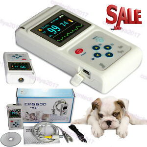 Veterinary Handheld Pulse Tester Oximeter Blood Oxygen Spo2 Tongue Probe Cat dog
