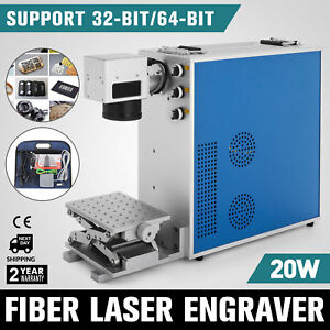 Portable 20w Fiber Laser Marking Machine Laser Engraver Printer Metal Engraving