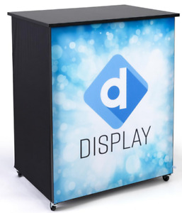 42 Custom Printed Graphics Portable Locking Trade Show Booth Counter Stand