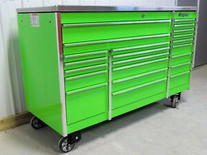 Snap On Extreme Green Krl1023 Tool Box And Stainless Steel Top