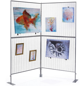 2 Panel Craft Fair Art Show Gallery Booth Grid Display Exhibit Stand