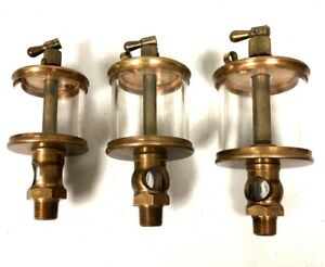 Set Of 3 Brass Lunkenheimer Sentinel No 2 3 4 Fig 1300 Drip Oilers Hit