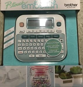 Brother P touch Embellish Ribbon Tape Label Printer Machine Ptd215e