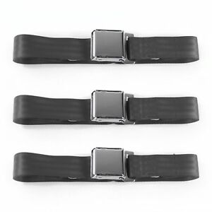Ford Falcon 1966 1970 Airplane 2pt Charcoal Lap Bucket Seat Belt Kit 2 Belts