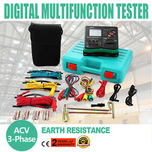All powerful Insulation Resistance Tester Detector Megger Auto Range Lcd Testing