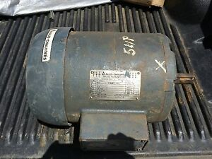 Allis chalmers 3 Phase Electric Motor 5 Hp Model 613