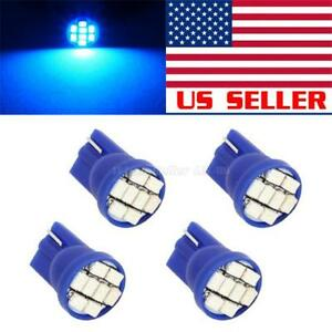 4 Ultra Blue 8 Smd 168 194 2825 Cree Led Bulbs For Car License Plate Lights