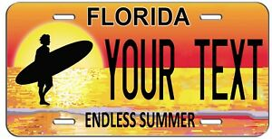 Personalized Custom Florida Endless Summer Vanity License Plate Auto Tag