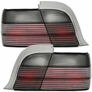 Black White Gray Finish Tail Rear Lights For Bmw E36 Coupe Cabrio