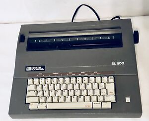 Vintage Smith Corona Sl500 Portable Electric Typewriter Tested Ribbon Still Goid