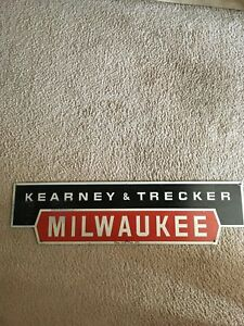 Kearney Trecker Machine Logo Metal Sign Milwaukee Matic